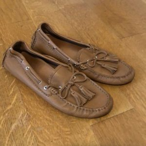 Very lightly worn Coach leather loafers